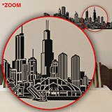 Vinilos Decorativos: Chicago skyline 6