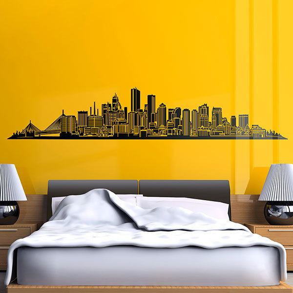 Vinilos Decorativos: Boston Skyline