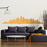 Vinilos Decorativos: Boston Skyline 3