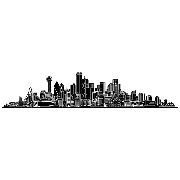 Vinilos Decorativos: Dallas Skyline