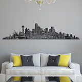 Vinilos Decorativos: Dallas Skyline 2