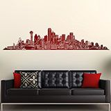 Vinilos Decorativos: Dallas Skyline 3