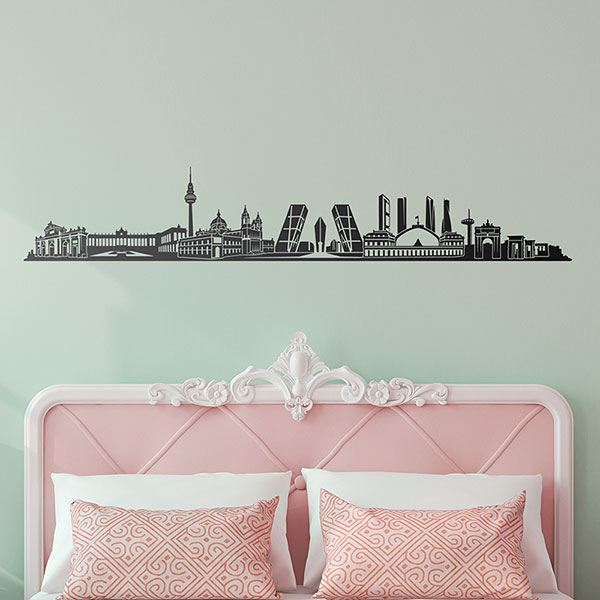 Vinilos Decorativos: Madrid Skyline 2018