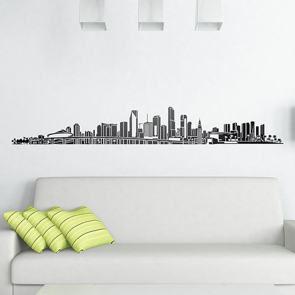 Vinilos Decorativos: Miami Skyline 2018 0