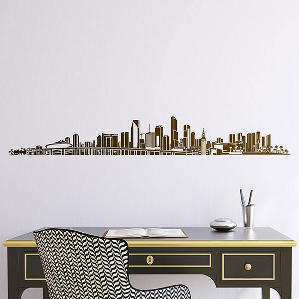 Vinilos Decorativos: Miami Skyline 2018