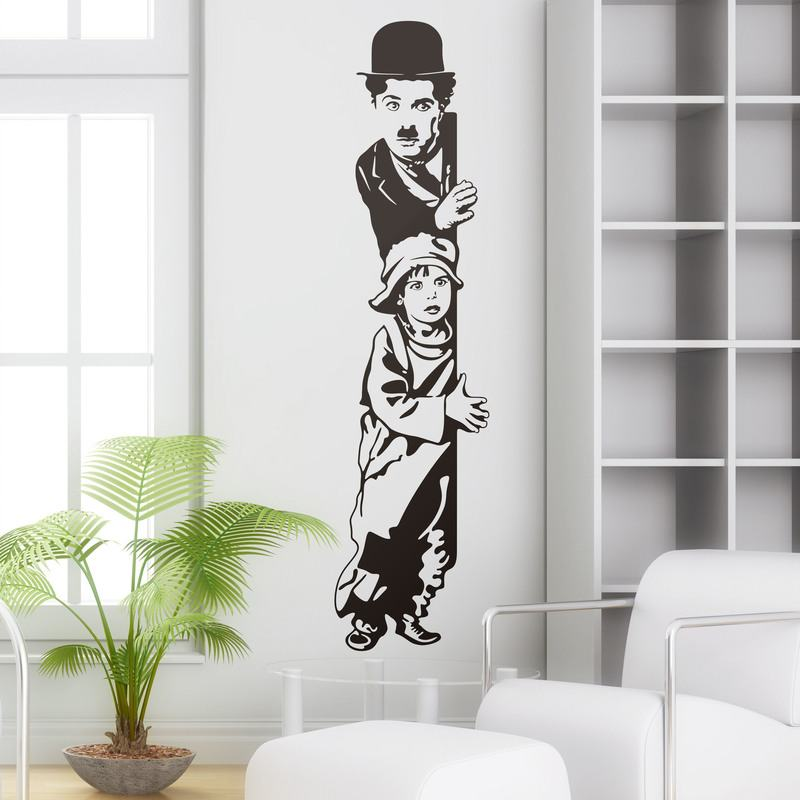 Charles chaplin chartot en the kid - Vinilos decorativos cine ...