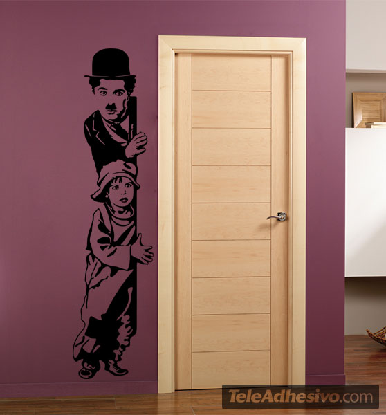 Vinilos Decorativos: Chaplin The Kid