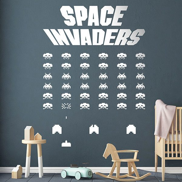 Vinilos Decorativos: Space Invaders Game
