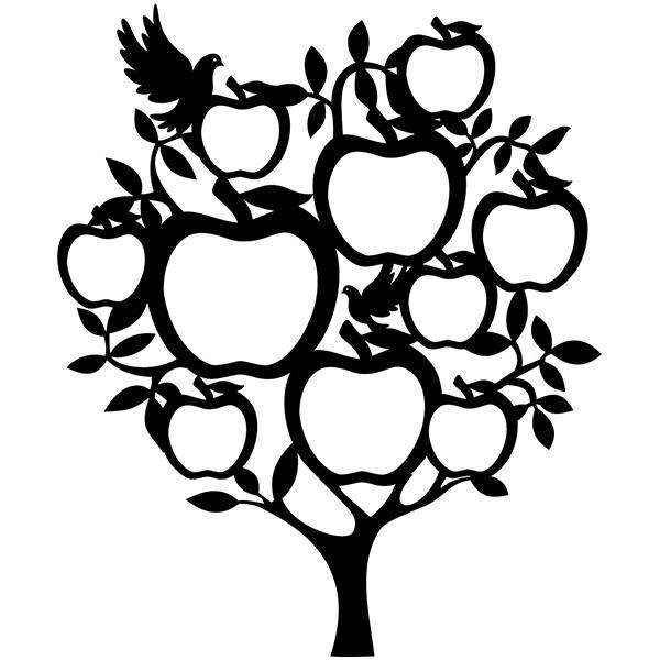 Vinilo Decorativo árbol Genealógico Con Manzanas Teleadhesivocom