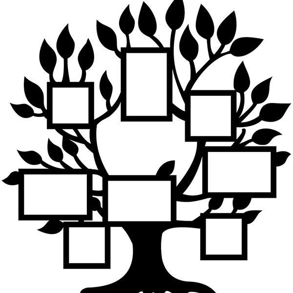 Vinilo Decorativo árbol Genealógico De La Familia Teleadhesivocom