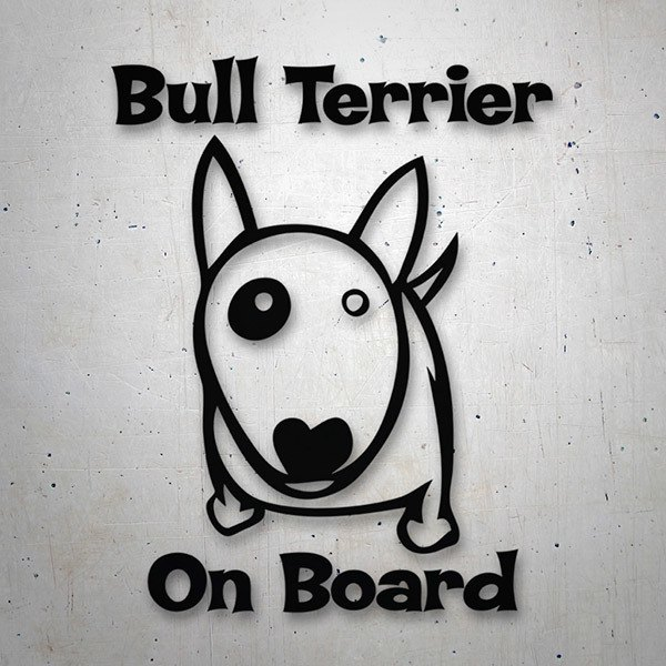 Pegatinas: Bull Terrier On Board