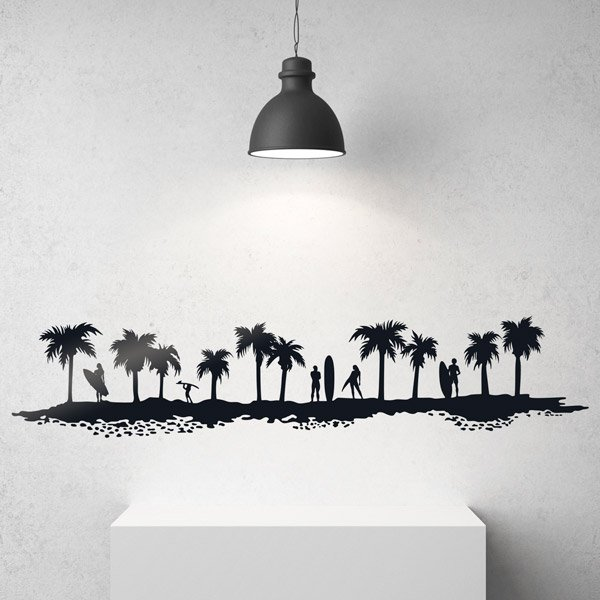 Vinilos Decorativos: Skyline surf