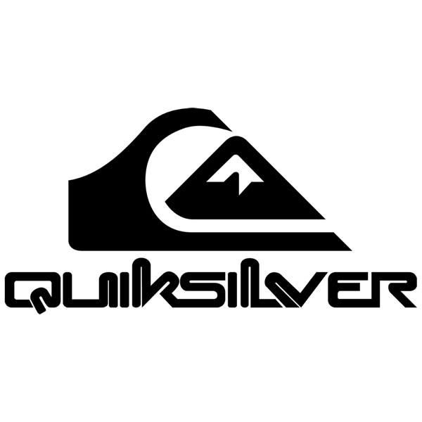 Vinilos Decorativos: Quicksilver logo Bigger