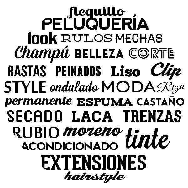 Vinilo Decorativo Tipográfico Peluquería Teleadhesivocom
