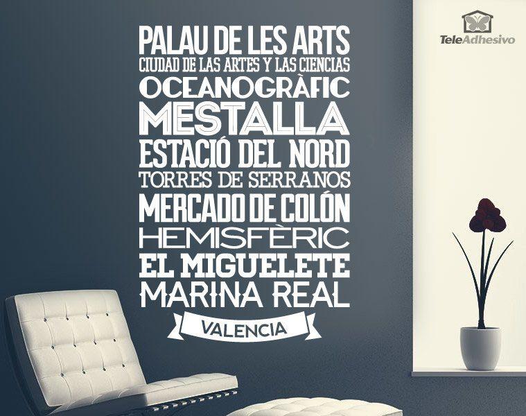 Vinilo decorativo tipogr fico valencia for Vinilos pared valencia