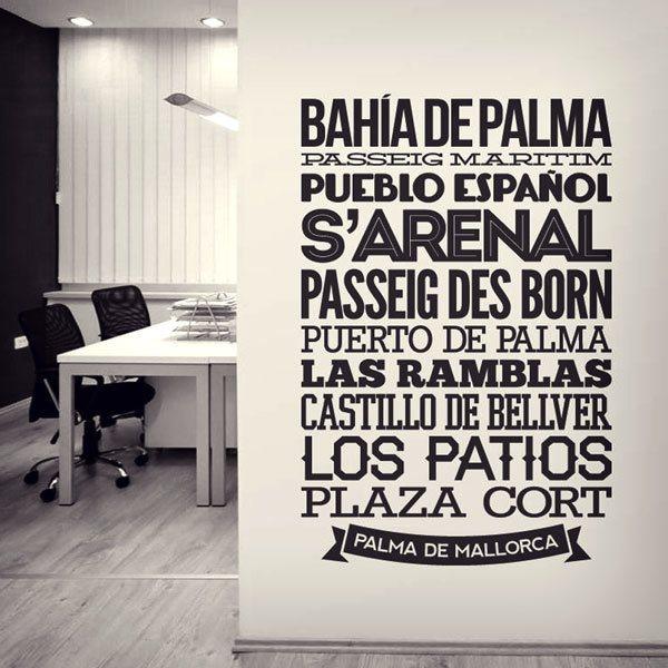 Vinilos Decorativos Mallorca.Vinilo Decorativo Tipografico Palma De Mallorca