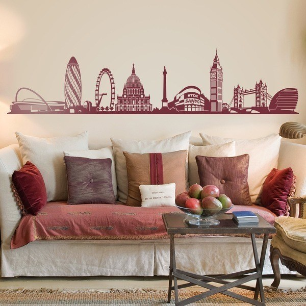 Vinilos Decorativos: Skyline de Londres 0