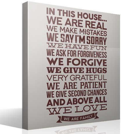 Vinilos Decorativos: In this house we are real...