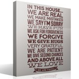 Vinilos Decorativos: In this house we are real... 3