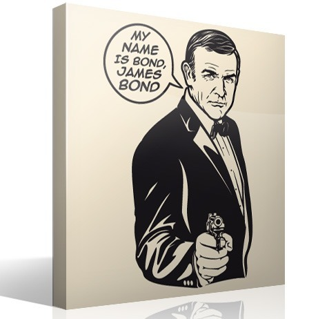Vinilos Decorativos: My name is Bond, James Bond