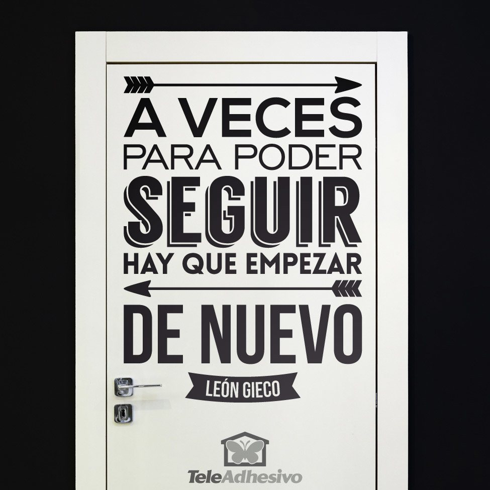 A veces para poder seguir for Frases en vinilo para pared