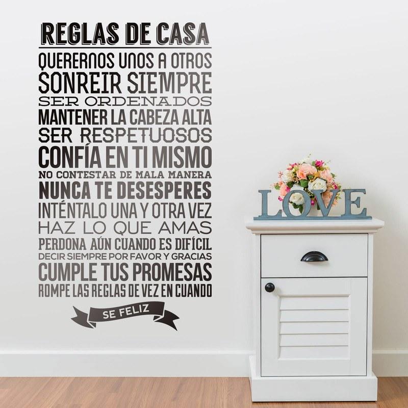 Reglas de la casa for Imagenes de las reglas de la casa