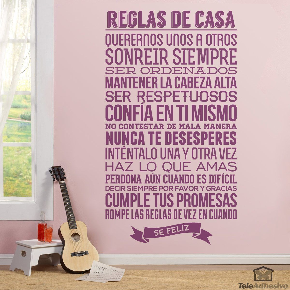 Reglas de la casa for Vinilos decorativos casa
