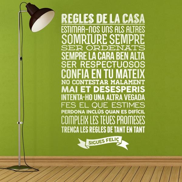 Vinilo Decorativo Regles De La Casa Teleadhesivocom