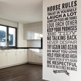 Vinilos Decorativos: House Rules 2