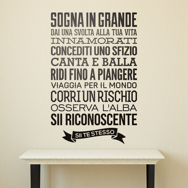 Vinilos Decorativos De Frases En Italiano Teleadhesivo