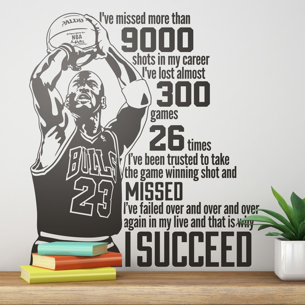 Vinilos Decorativos: The success of Michael Jordan 0