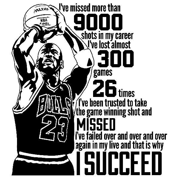 Vinilos Decorativos: The success of Michael Jordan