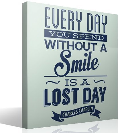 Vinilos Decorativos: Every day whithout a smail is a lost day