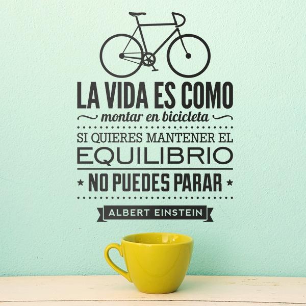 vinilos decorativos la vida es como montar en bicicleta