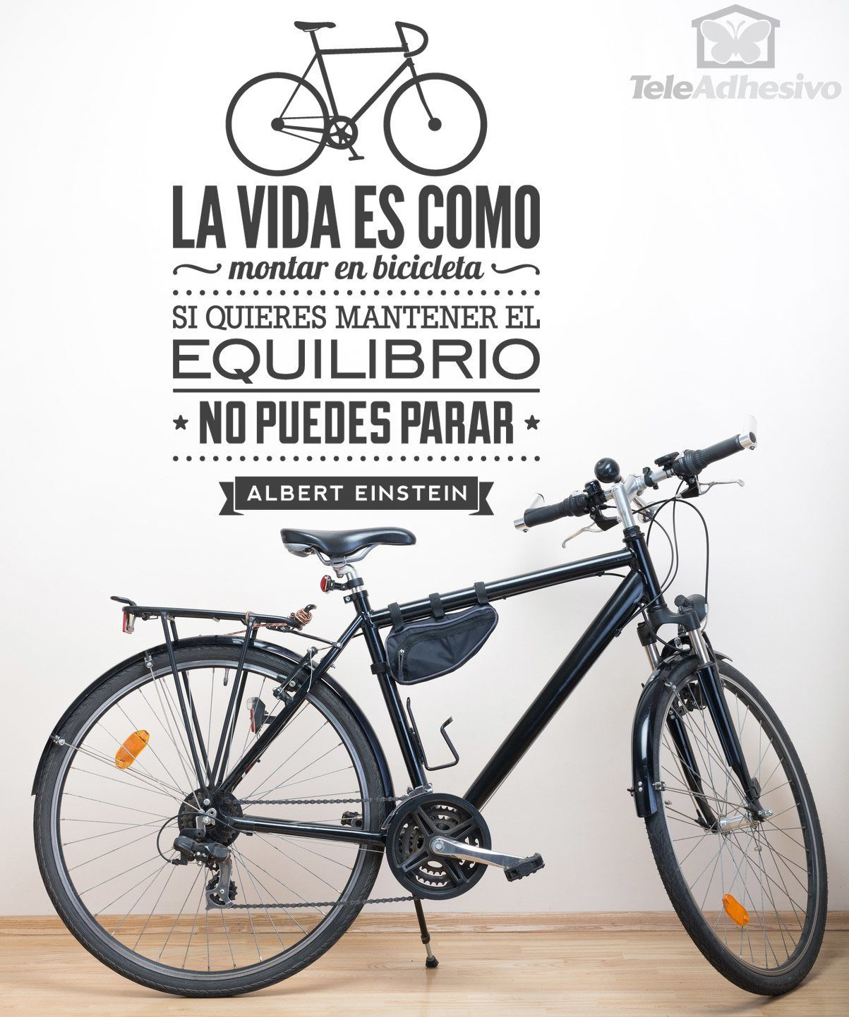 Vinilo Decorativo La Vida Es Como Montar En Bicicleta