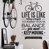 Vinilos Decorativos: Life is like riding a bicycle 2