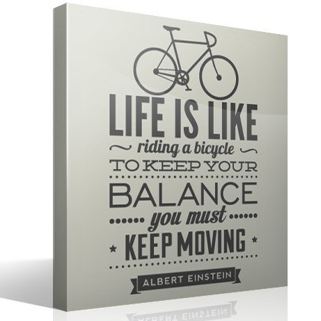 Vinilos Decorativos: Life is like riding a bicycle