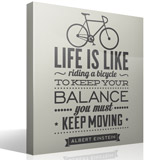 Vinilos Decorativos: Life is like riding a bicycle 3