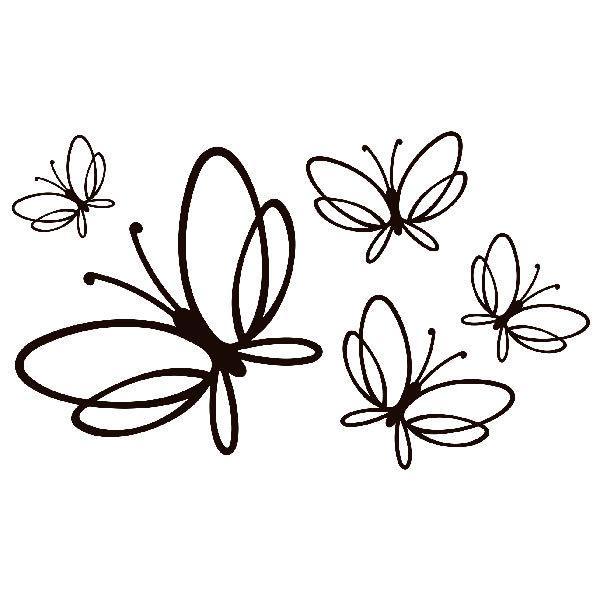 Vinilo decorativo de mariposas noltea en teleadhesivo - Vinilo para la pared ...