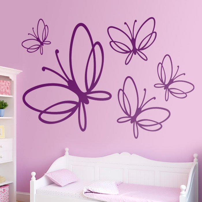 vinilo decorativo de mariposas noltea en teleadhesivo