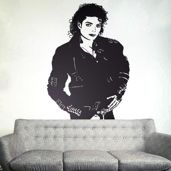 Vinilos Decorativos: Michael Jackson Bad
