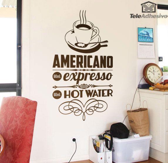 Vinilo decorativo caf americano for Stickers para azulejos cocina