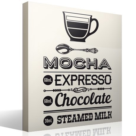 Vinilos Decorativos: Coffee Mocha