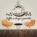 Vinilos Decorativos: Coffee is always a good idea 2