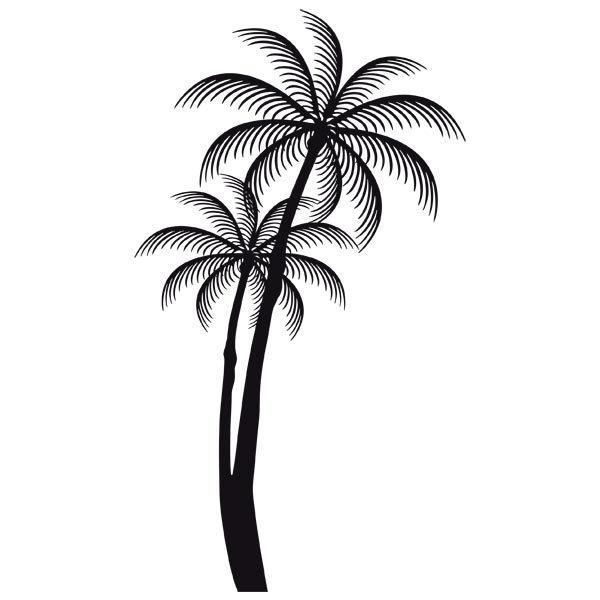 Vinilo decorativo siluetas de palmeras - Pegatinas para la pared ...