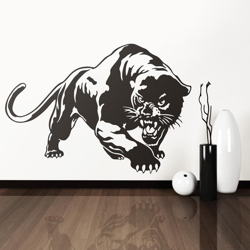 Vinilo decorativo de una pantera negra for Vinilos decorativos 3d