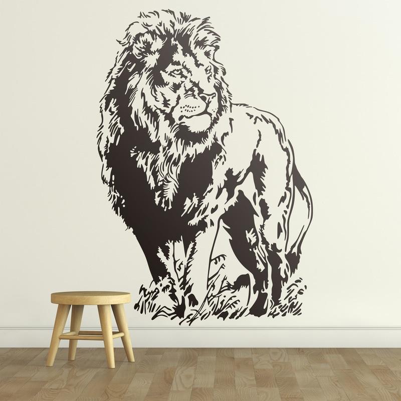 Vinilo decorativo le n rey de la selva un majestuoso for Tu vinilo decorativo