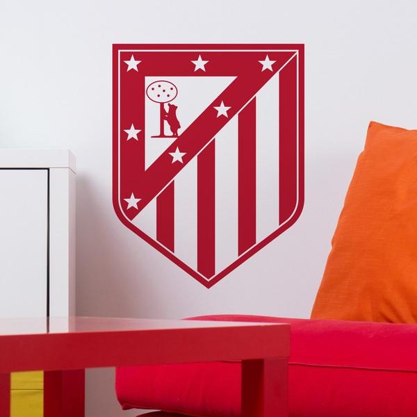 Vinilo decorativo del escudo del atl tico de madrid - Vinilos decorativos en madrid ...