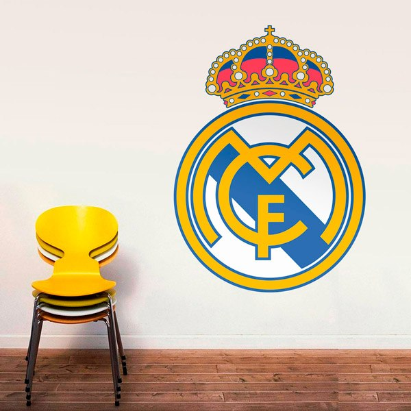Escudo real madrid color - Vinilos decorativos madrid ...