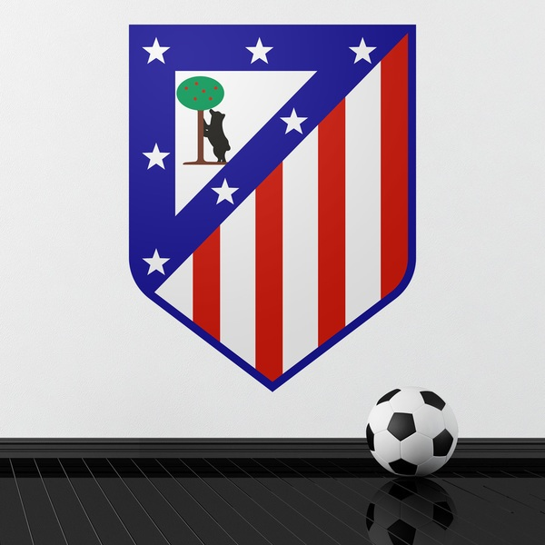 Vinilos Decorativos: Escudo Atlético de Madrid Color 1